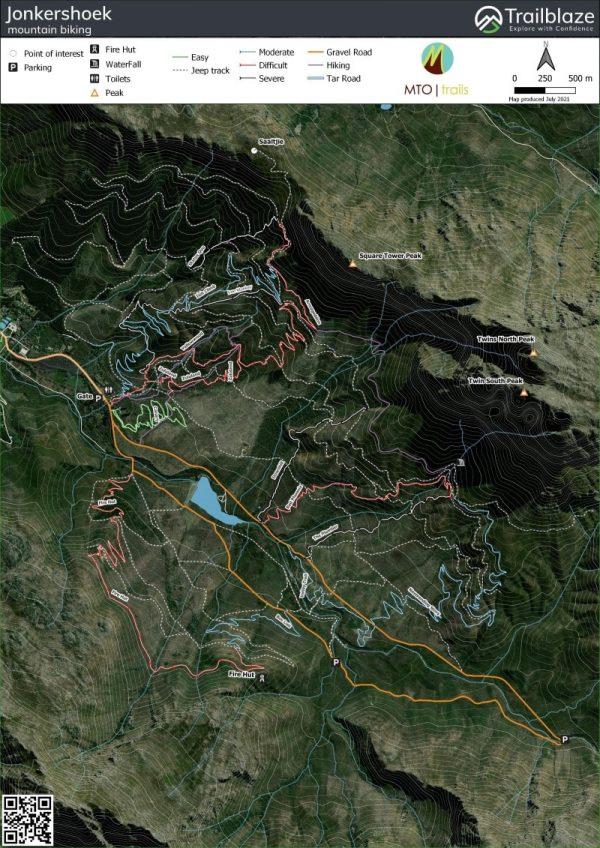Jonkershoek MTB maps