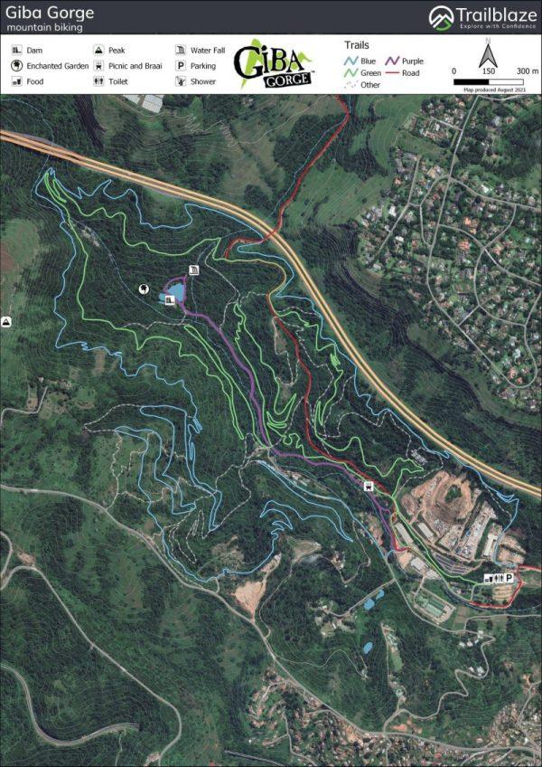 Giba Gorge MTB map
